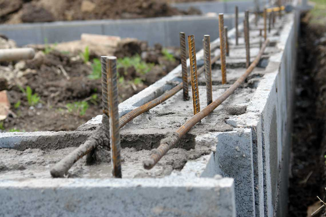 Block fill concrete advance mobile mix concrete for Block foundation